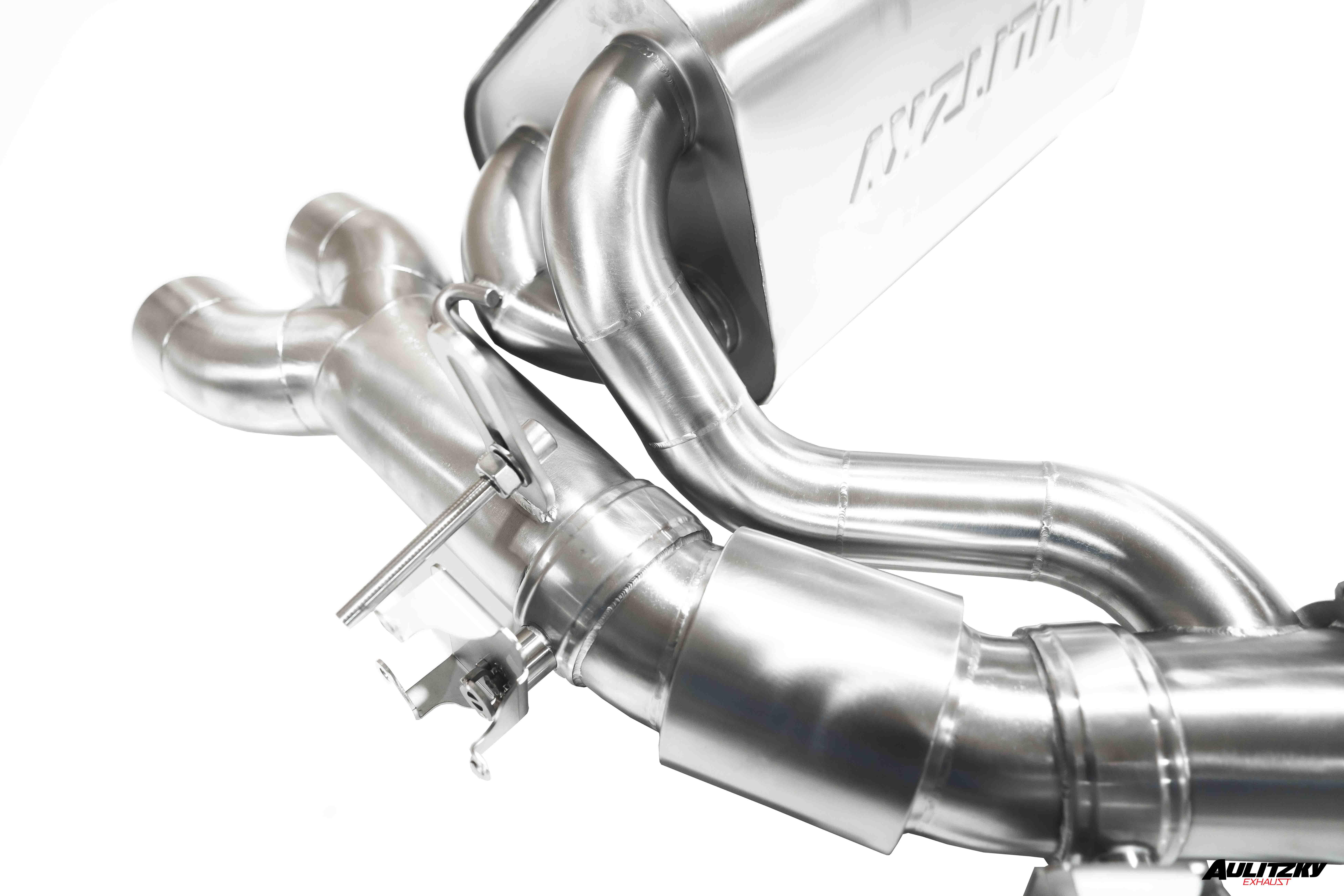 Aulitzky Exhaust | 3,5 Zoll Edelstahl Abgasanlage ab KAT mit Klappensteuerung | BMW M3 M4 | Competition | F80 F82 F83 |