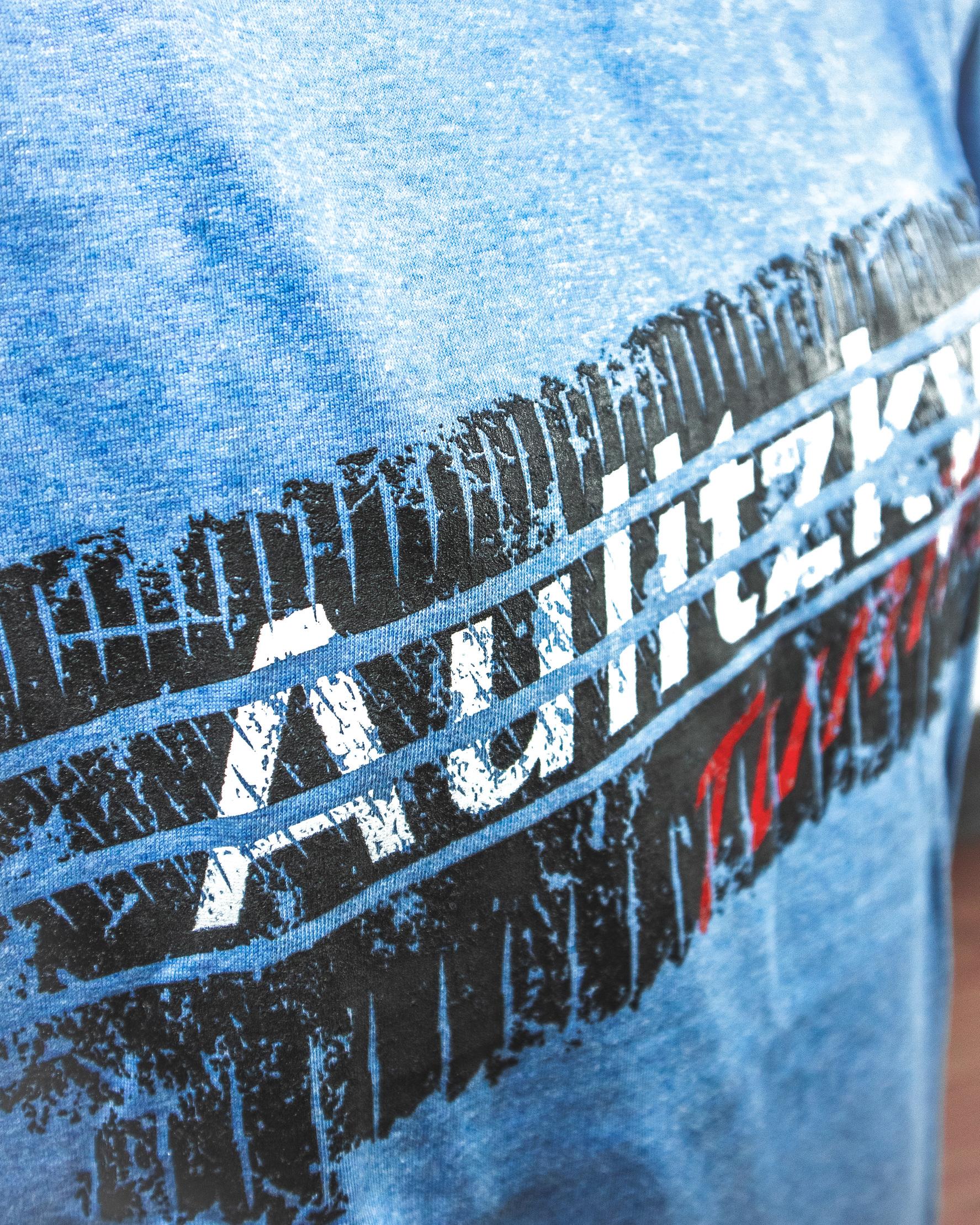 Aulitzky Tuning T-Shirt Reifenspur blau