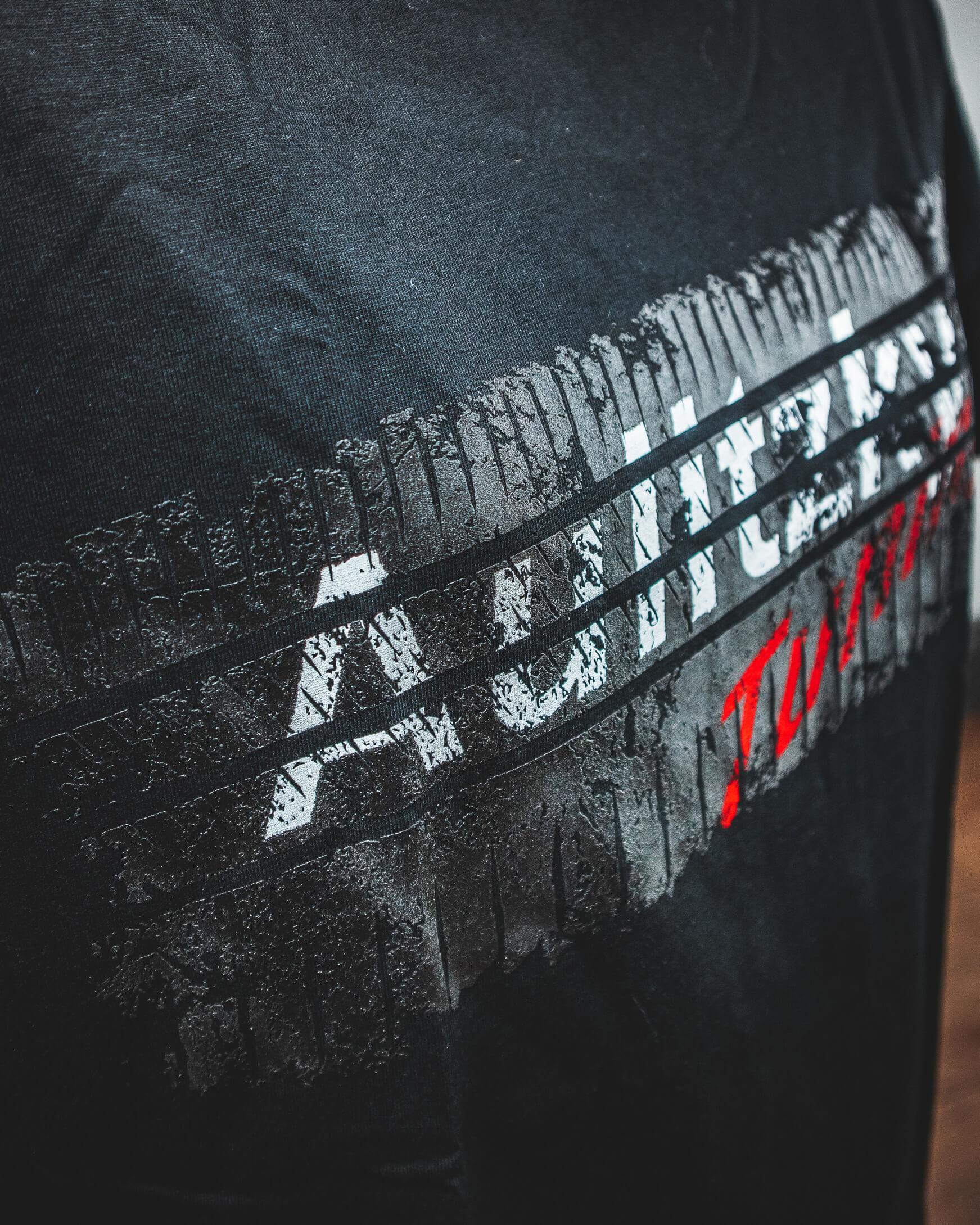 Aulitzky Tuning T-Shirt Reifenspur schwarz
