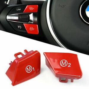 AutoTecknic | rote M1/M2 Knöpfe | BMW 1er/2er/3er/5er/6er/M2/M3/M4/M5/M6