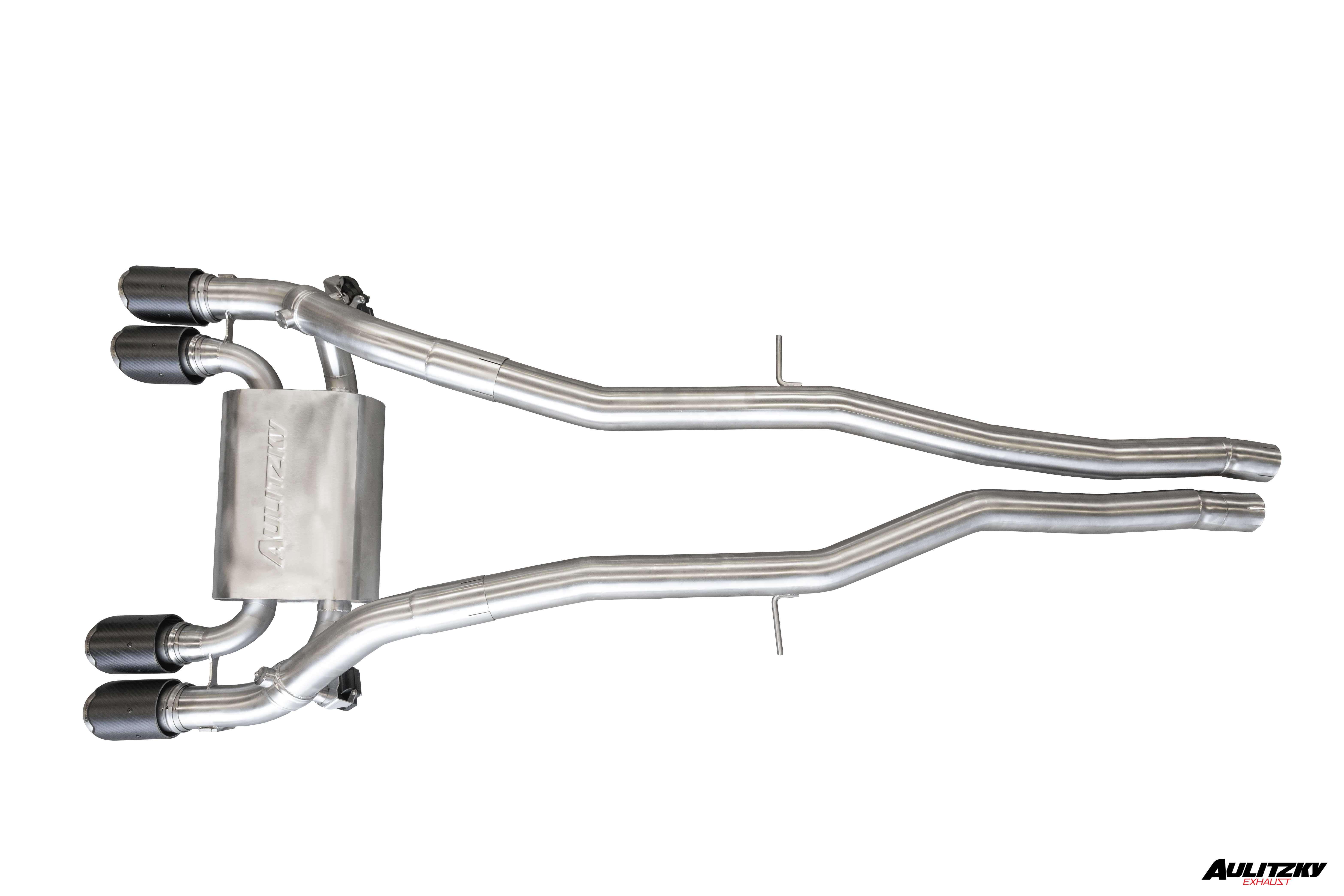 Aulitzky Exhaust | 3,0 Zoll Edelstahl  Abgasanlage ab OPF mit Klappensteuerung | BMW M3 M4 | Competition | G80 G82 G83 |