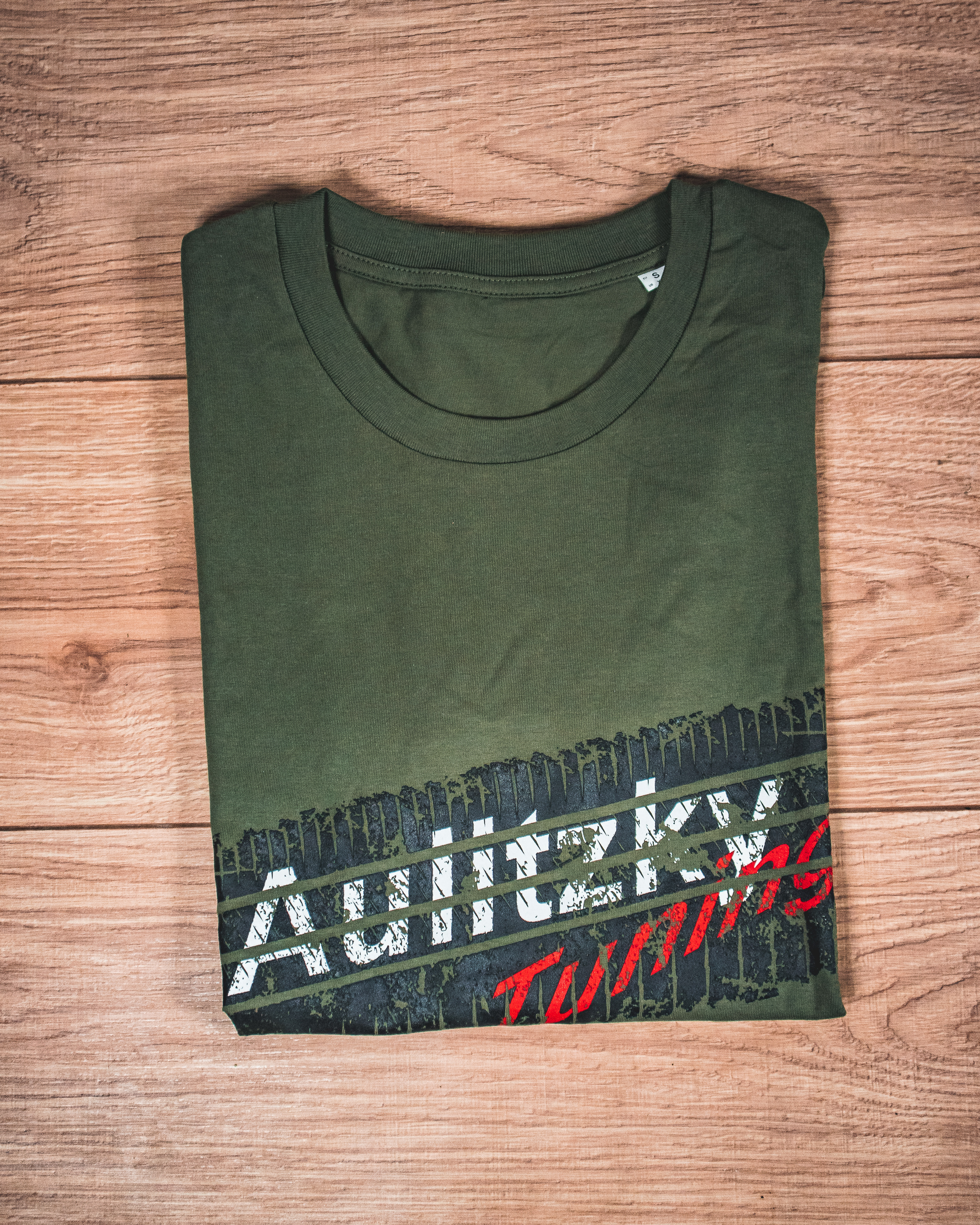 Aulitzky Tuning T-Shirt Reifenspur olivegrün